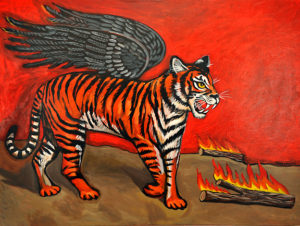 Avenging Tiger, Acrylic on Canvas, 30x40