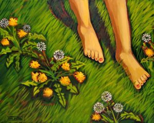 Barefoot, Acrylic on Canvas