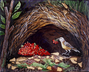 Bird Berry, Acrylic on Canvas