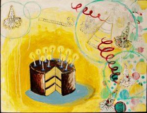 Birthday Cake, Acrylic on Canvas
