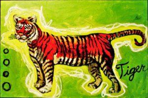 Bright Tiger, Acrylic on Canvas