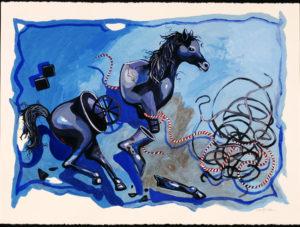 Broken Horse, Acrylic on Canvas, sold