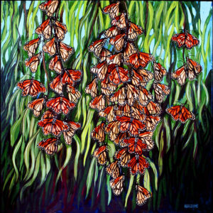 Monarch Butterflies, Acrylic on Canvas