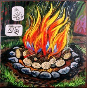 Campfire, Acrylic on Canvas