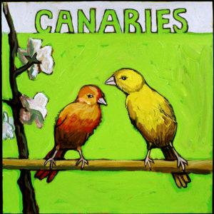 Canaries, Acrylic on Canvas