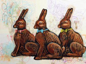 Chocolate Rabbits, Acrylic on Canvas