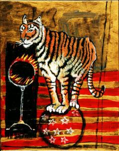 Circus Tiger, Acrylic on Canvas