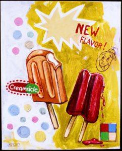Creamsicle, Acrylic on Canvas