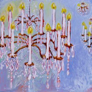 Crystal Chandelier, Acrylic on Canvas