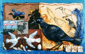 Dodo Bird, Acrylic on Canvas