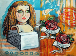 Doll Face, Acrylic on Canvas