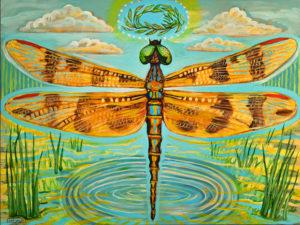 Dragonfly, Acrylic on Canvas