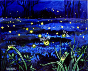 Fireflies, Acrylic on Canvas