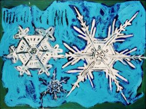 Flake, Acrylic on Canvas