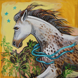 Freckled Horse, Acrylic on Canvas