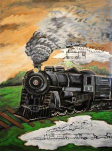 Ghost Train, Acrylic on Canvas
