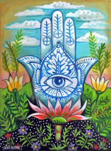 Hamsa, Acrylic on Canvas