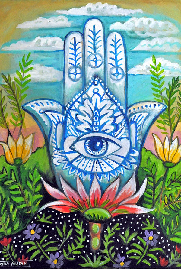 Hamsa, Acrylic on Canvas