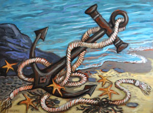 Heavy Anchor, Acrylic on Canvas