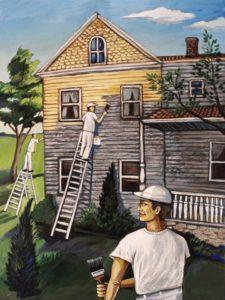House Painters, Acrylic on Canvas