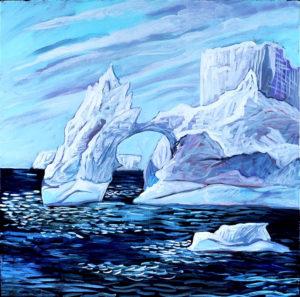 Iceberg, Acrylic on Canvas