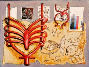 Internal Mechanisms, Acrylic on Canvas