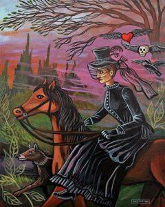 Katherine Rides at Sunset, Acrylic on Canvas