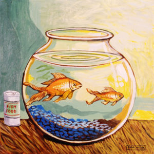 Life in a Fishbowl, Acrylic on Canvas, sold