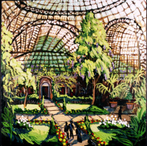 Longwood Gardens, Acrylic on Canvas