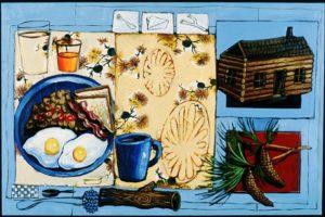 Lumberjack, Acrylic on Canvas
