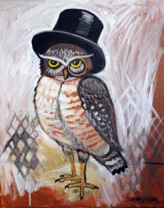 Mr. Owl, Acrylic on Canvas