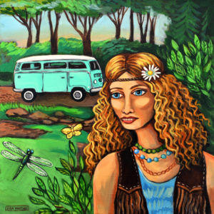 Nature Girl, Arylic on Canvas
