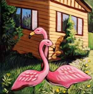 Neighbors' Yard, Acrylic on Canvas