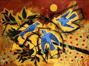 Night Birds, Acrylic on Canvas