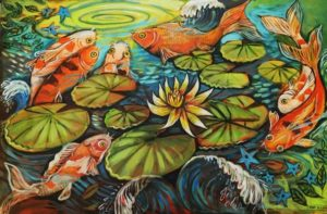 Pond Life, Acrylic on Canvas