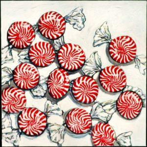Ruth's Mints, Acrylic on Canvas