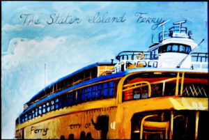 Staten Island Ferry, Acrylic on Canvas