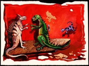 Small Monstrosity, Acrylic on Paper