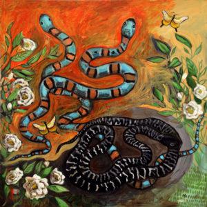 Snakes, Acrylic on Canvas