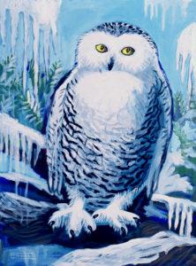 Snowy Owl, Acrylic on Canvas