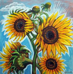 Sunflower Glow, Acrylic on Canvas