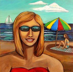 Sunny Beach, Acrylic on Canvas