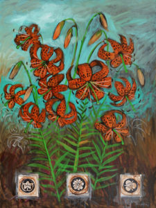 Tiger Lily, Acrylic on Canvas