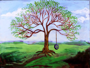 Tire Swing, Acrylic on Canvas