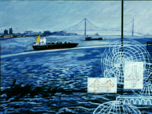 Verrazano Bridge, Acrylic on Canvas