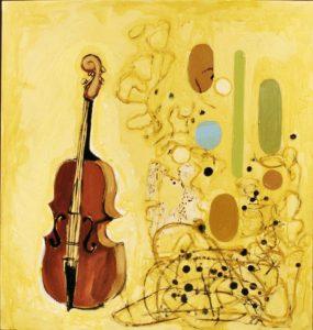 Violin, Acrylic on Canvas
