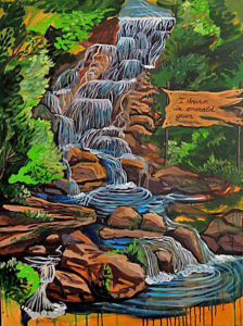 Waterfall, Acrylic on Canvas