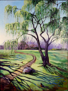 Weeping Willow, Acrylic on Canvas,
