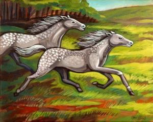 Wild Horses, Acrylic on Canvas