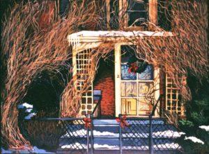 Winter Door, Acrylic on Canvas